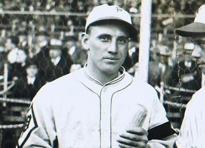 Chuck Klein wearing the Phillies 1925-1932 Fitted Home Hat.